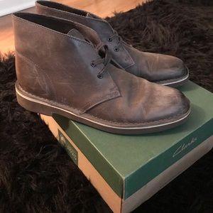 Clarks Gray Leather Bushacre 2 Sz 8